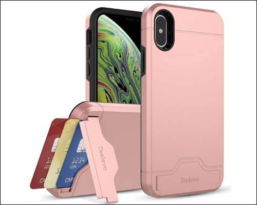 Teelevo iPhone X, Xs Card Holder Case