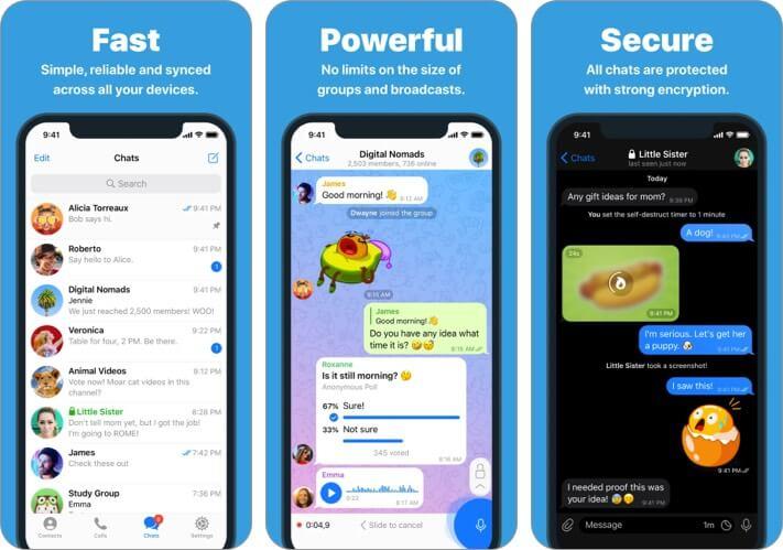 Telegram iMessage Alternative app screenshot