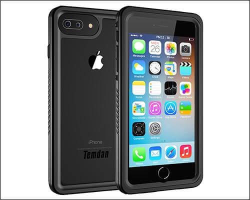 Temdan Waterproof Case for iPhone 8 Plus
