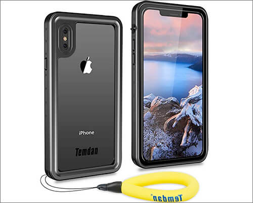 Temdan Waterproof Case for iPhone Xs
