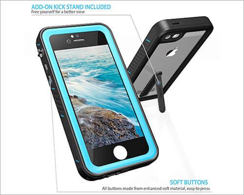 Temdan iPhone SE Kickstand Case