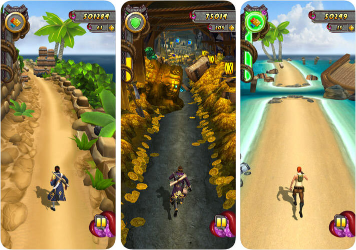 Temple Run 2 iPhone and iPad One-Handed Game Screenshot