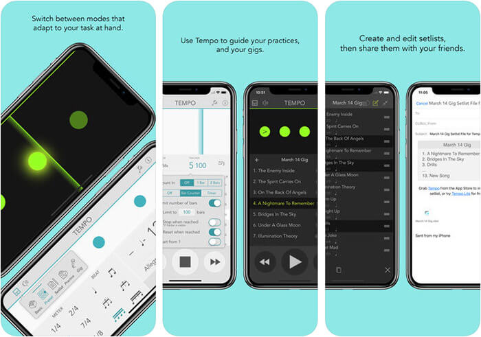 Tempo iPhone and iPad App Screenshot