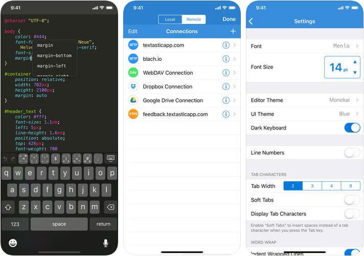 Textastic Code Editor 7 iPhone and iPad HTML Editor App Screenshot