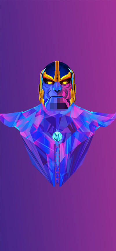 Thanos Colorful iPhone Wallpaper