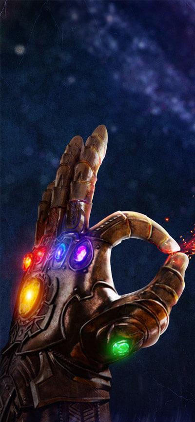 Thanos Gauntlet iPhone Wallpaper