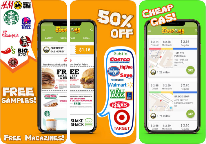 The Coupons iPhone and iPad App Screenshot