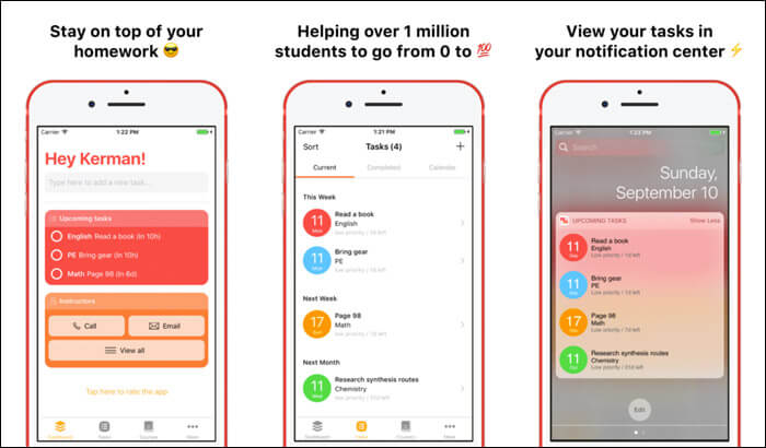 The Homework iPhone and iPad App Screenshot