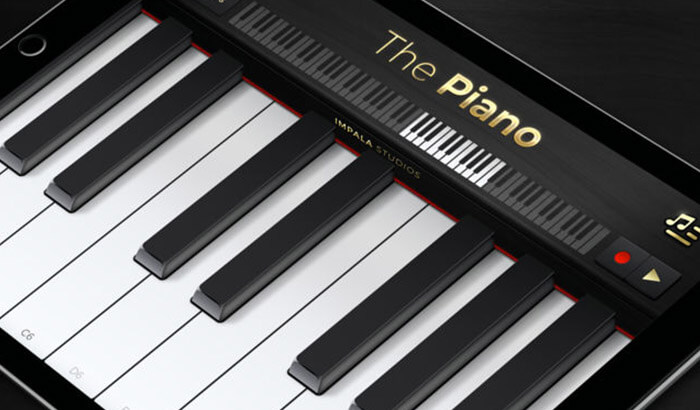 The Piano Learning iPhone and iPad App Screenshot