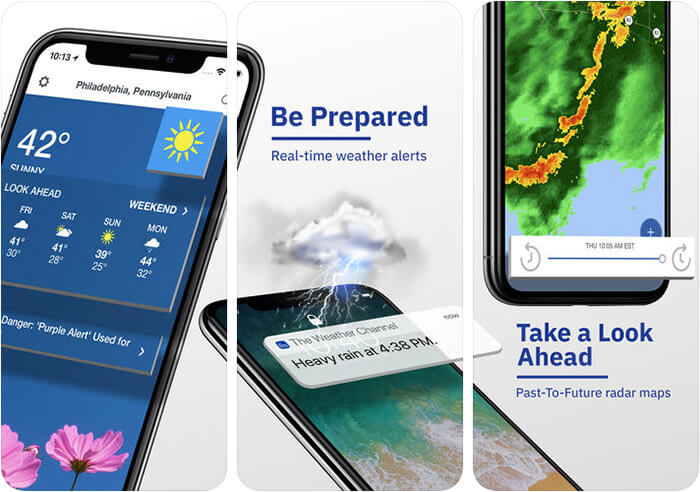 The Weather Channel iPhone and iPad App Screenshot