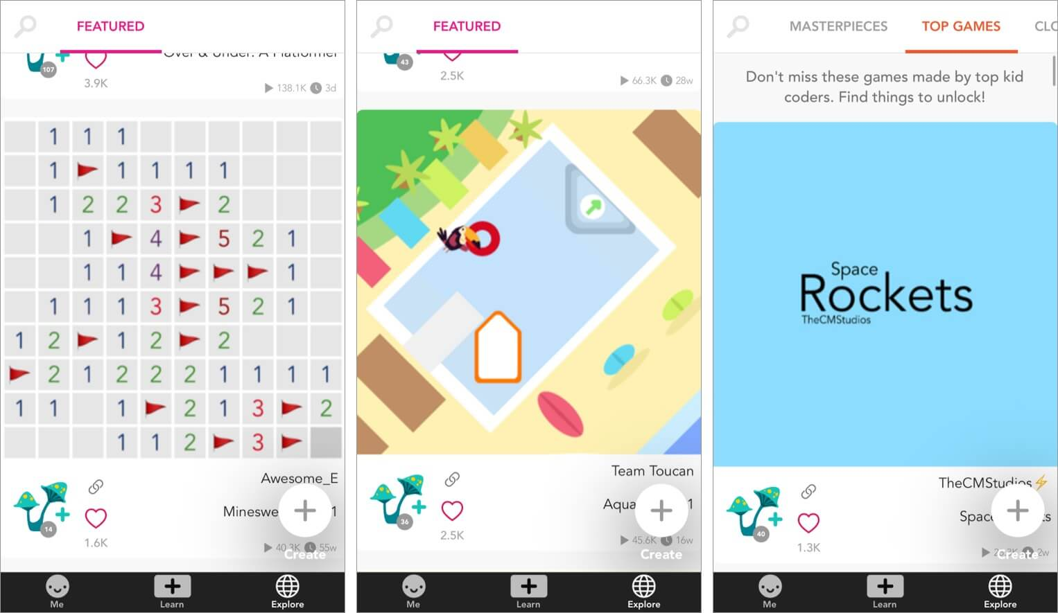 The vast community of Hopscotch app for iPhone and iPad