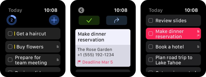 Things 3 Apple Watch productivity app