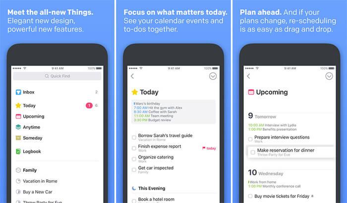 Things 3 Drag and Drop iPad App Screenshot