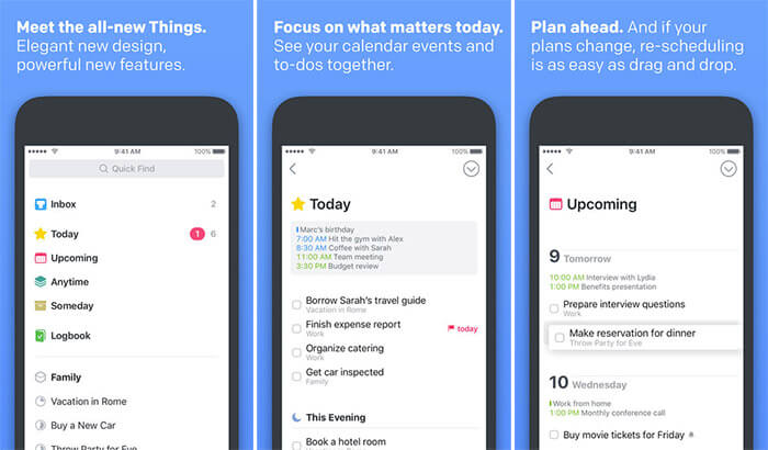 Things 3 iPhone and iPad App Screenshot