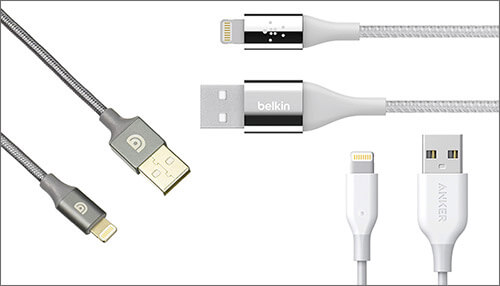 Third-Party MFi certified Lightning cables