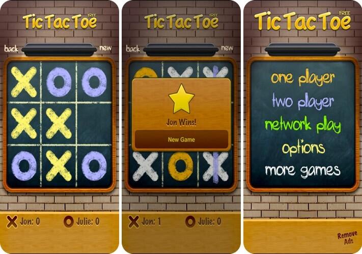 Tic Tac Toe iPhone Board Game Screenshot