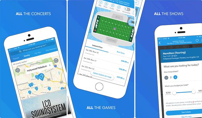 TicketMaster iPhone App Screenshot
