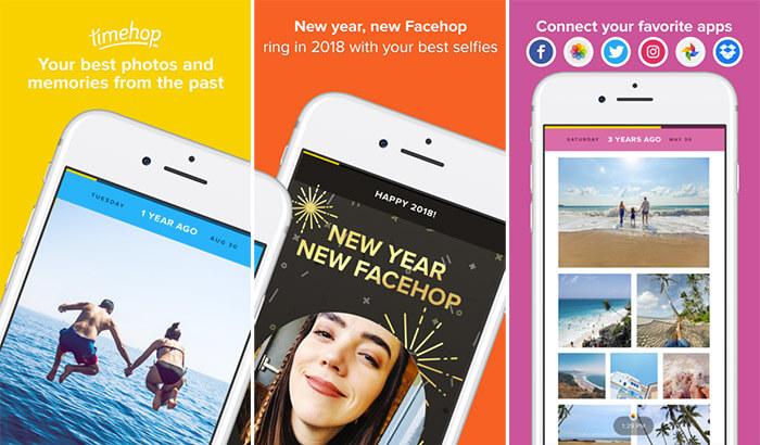 Timehop Social Media iPhone and iPad App Screenshot