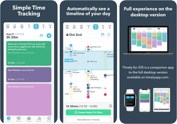 Timely iPhone and iPad App Screenshot