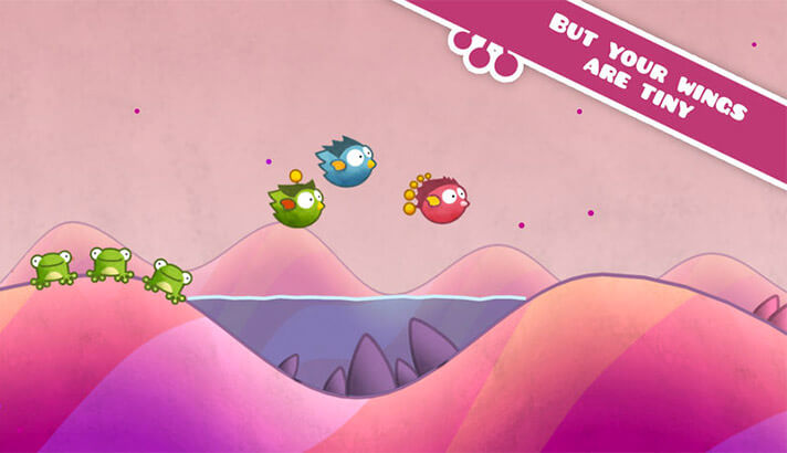 Tiny Wings One-Handed iPhone and iPad Game Screenshot