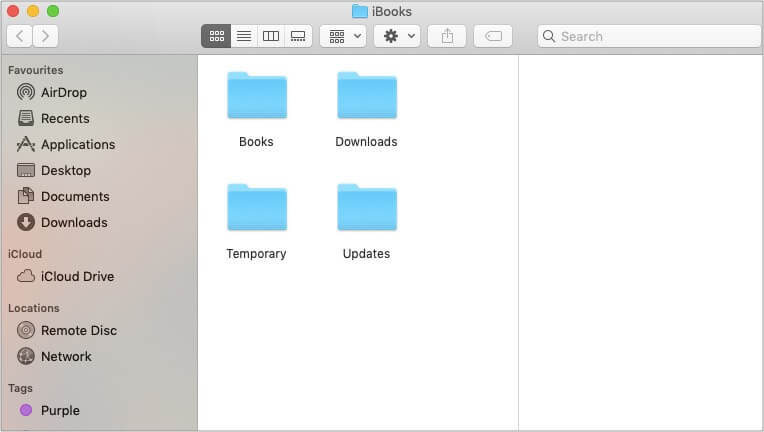 To access your iBooks, open the Books folder on Mac