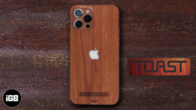 Toast iPhone 12 wooden cover review