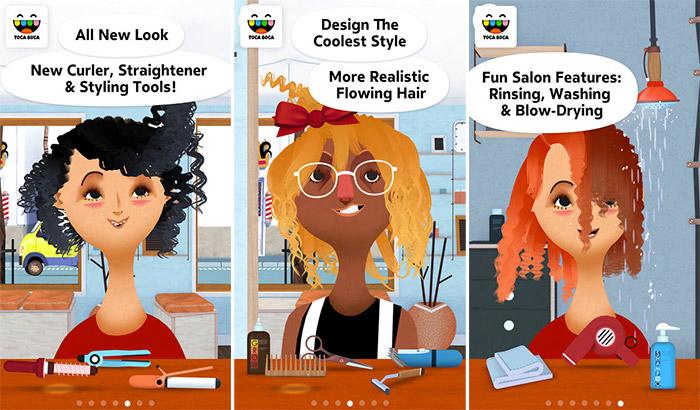 Toca Hair Salon 2 iPhone and iPad App Screenshot