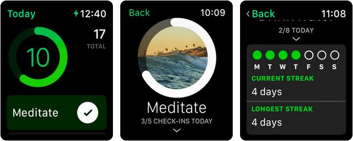 Today Habit tracker Apple Watch Reminder App Screenshot