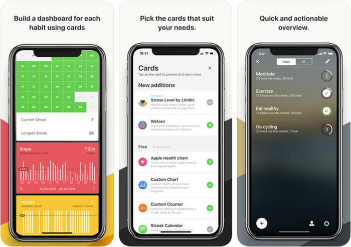 Today Habit tracker iPhone App Screenshot