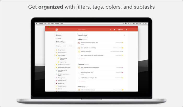 Todoist Mac Task Management App Screenshot