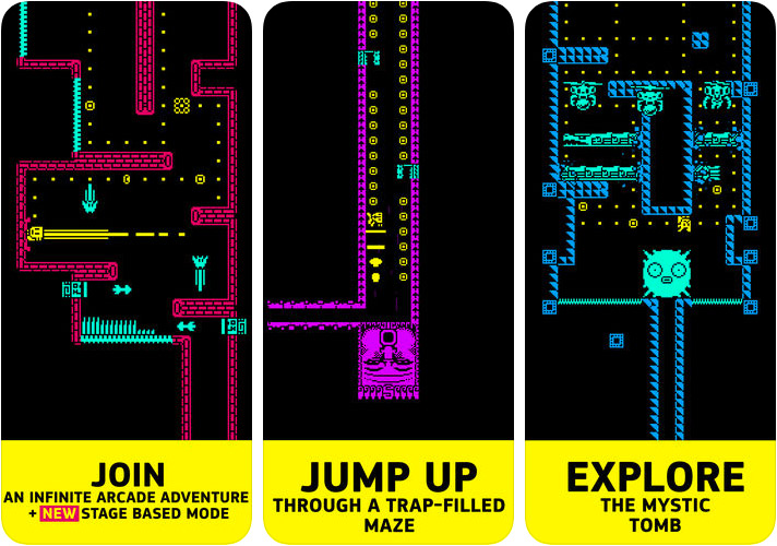 Tomb of the Mask iPhone and iPad Arcade Game Screenshot