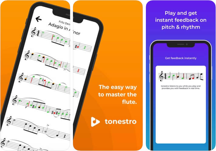 Tonestro for Flute Learning iPhone and iPad App Screenshot