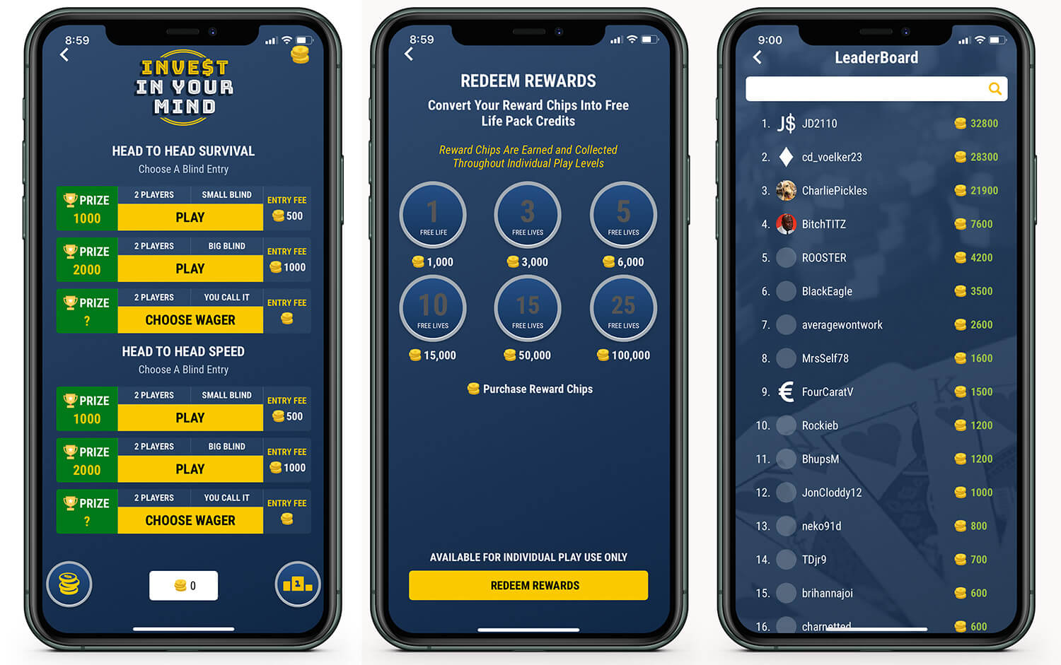 Top Leaderboard in MoneyBall Mind Training Game