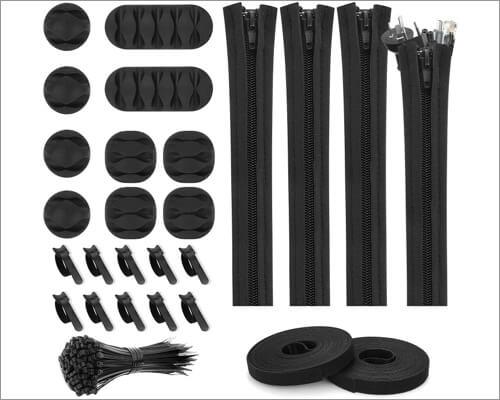 Topbooc cable management organizer kit