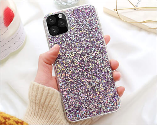 Topwin iPhone 11 Pro Max Women Diamond Slim Case