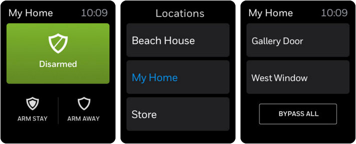 Total Connect 2.0 Apple Watch Home Automation App Screenshot