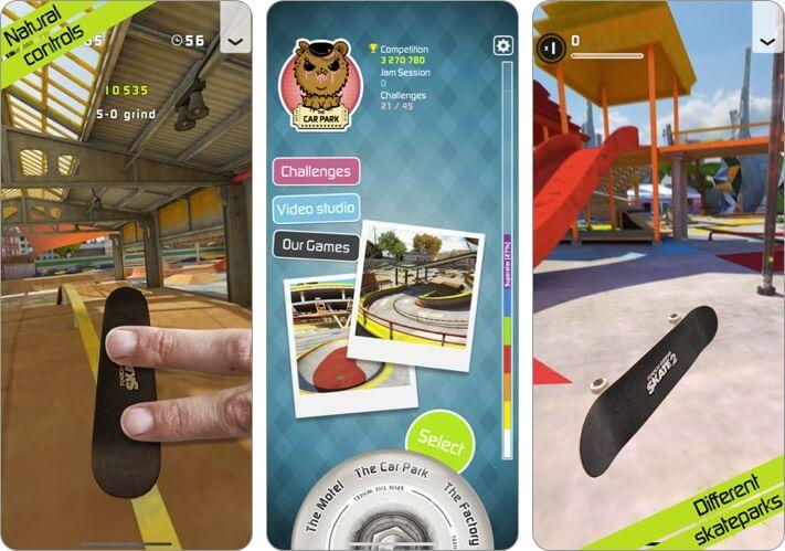 Touchgrind Skate 2 iPhone Skateboard Game Screenshot