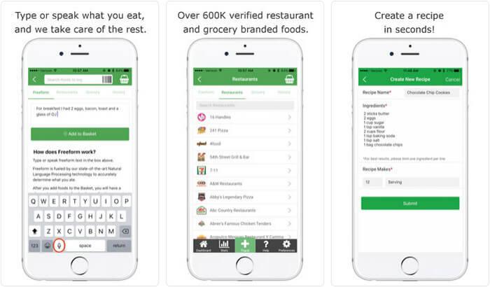 Track Calorie Counter iPhone App Screenshot