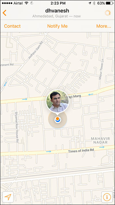 Track Your Friend's Location on iPhone