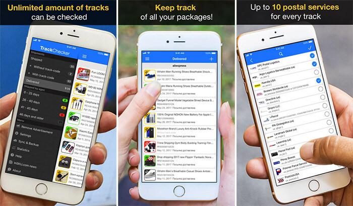 TrackChecker Shipment Tracking iPhone and iPad App Screenshot