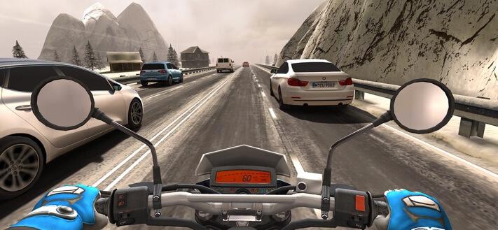 Traffic Rider iPad and iPhone Game Screenshot