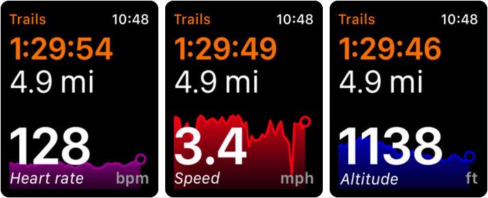 Trails Apple Watch Fitness App Screenshot