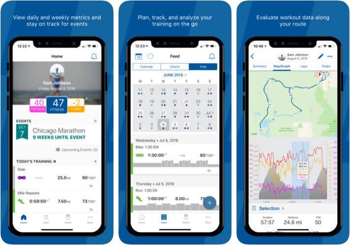 TrainingPeaks iPhone Cycling App Screenshot