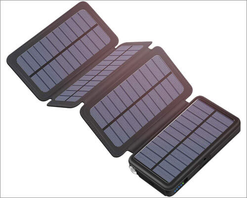 Tranmix Solar Power Bank for iPhone 11 Pro Max, iPhone 11 Pro, and iPhone 11