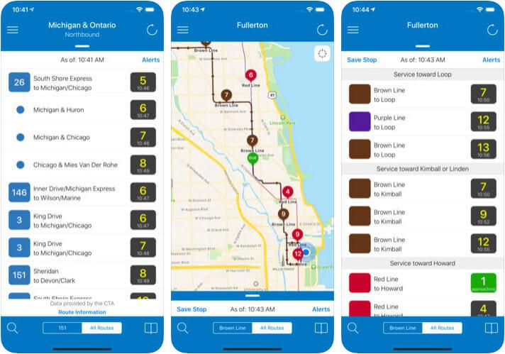 Transit Stop iPhone, iPAd, and Apple Watch App Screenshot