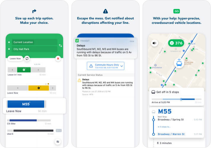 Transit iPhone App Screenshot
