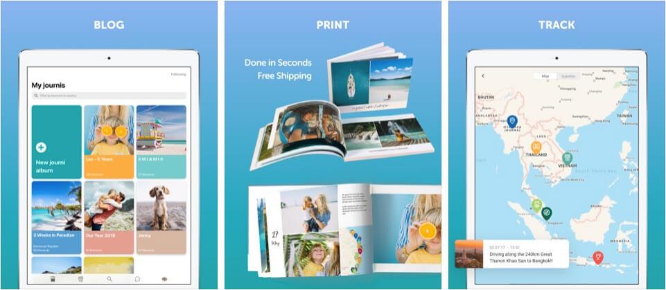 Travel Blog and Journal Lifestyle iPad App Screenshot