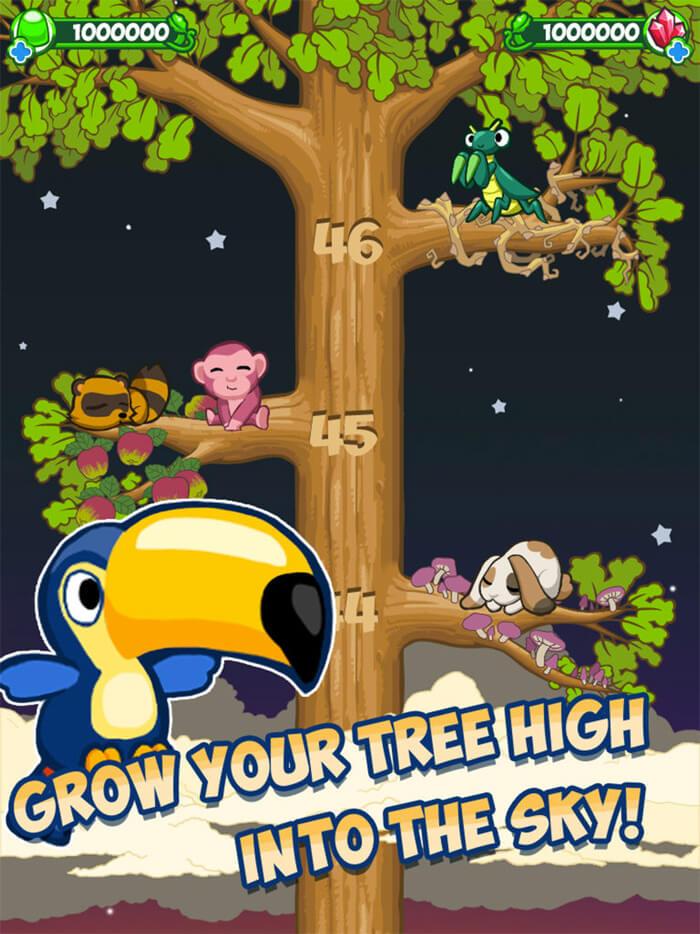 Tree World iPhone and iPad Game Screenshot