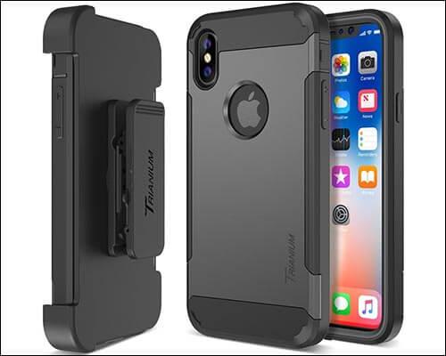 Trianium iPhone X Belt Clip Holster Case