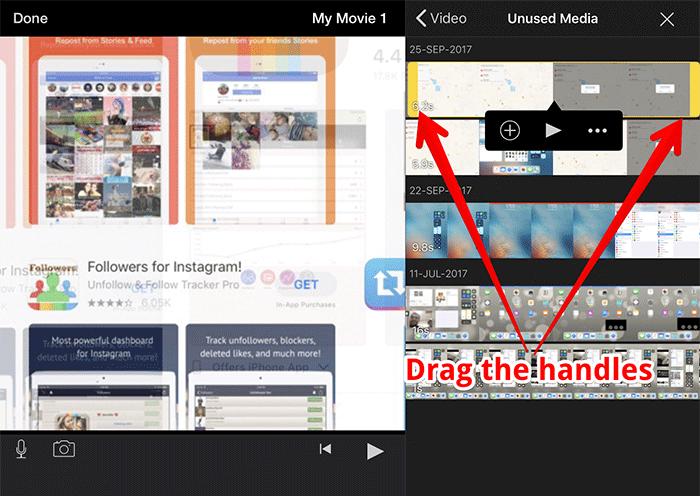 Trim Videos in iMovie on iPad